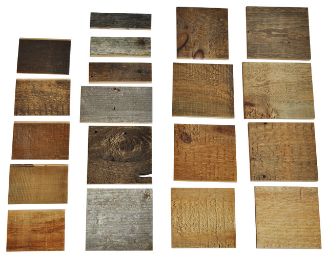 Reclaimed Wood Wall Covering DIY - Product Sample Box rustic-wall-decor - Reclaimed Wood Wall Covering DIY - Product Sample Box - Rustic