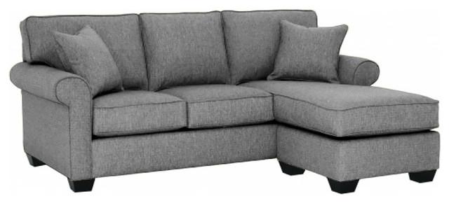 Lafayette Reversible Chaise Sofa Smoke