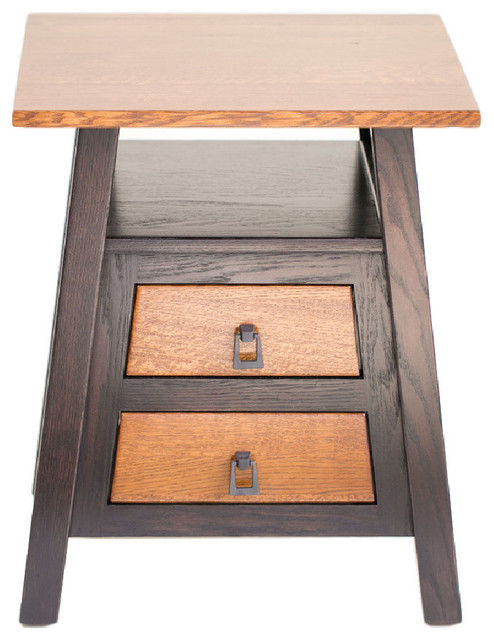 Santa Fe End Table Michaels And Onyx Red Oak Rustic Quarter Sawn White