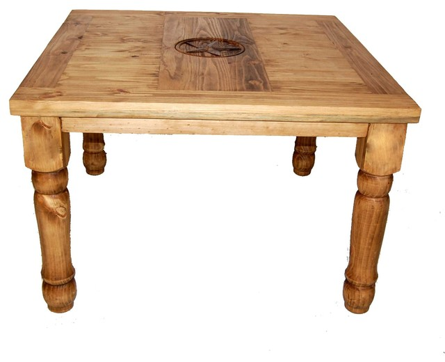 "Star Furniture Dining Table: 48"" Square Table With Texas Star"