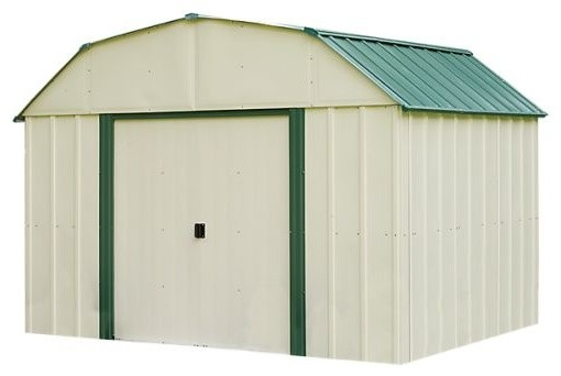 Vinyl Sheridan 10&x27;x8&x27; Shed, Meadow Green, Almond And Gambrel Gable.