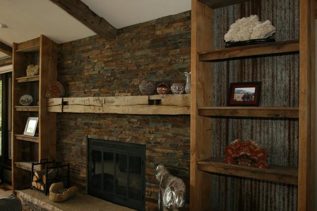 Reclaimed Barnwood Repurposed Corrugated Sheet Metal Book Shelves And Bar