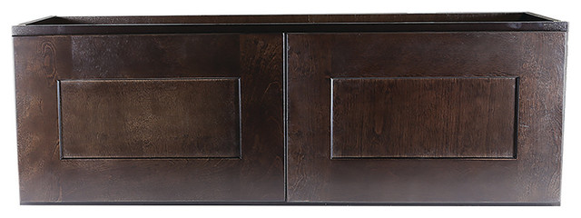 Design House Brookings Corner Wall Cabinet, Espresso Shaker, 12x30x18.