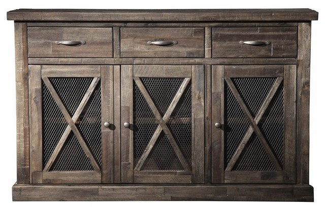 Sideboard, Salvaged Gray Finish.