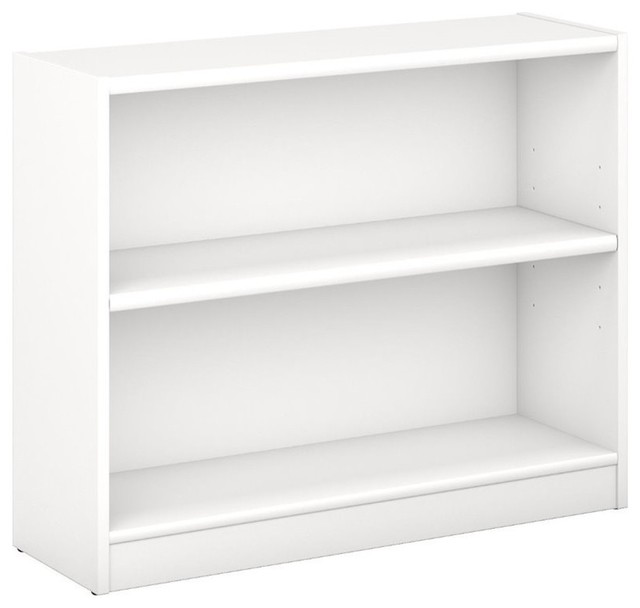 Pemberly Row 2 Shelf Bookcase, Pure White