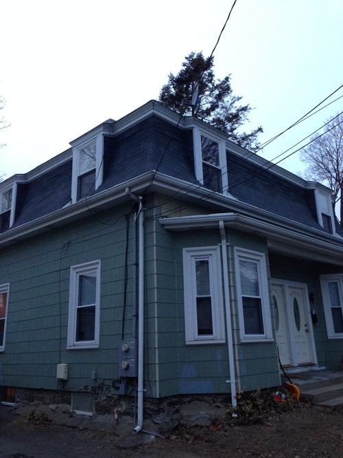 Ugly Mansard Victorian W Asbestos Siding How To De Uglify