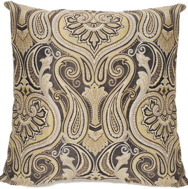 Paisley Slate Pillow.