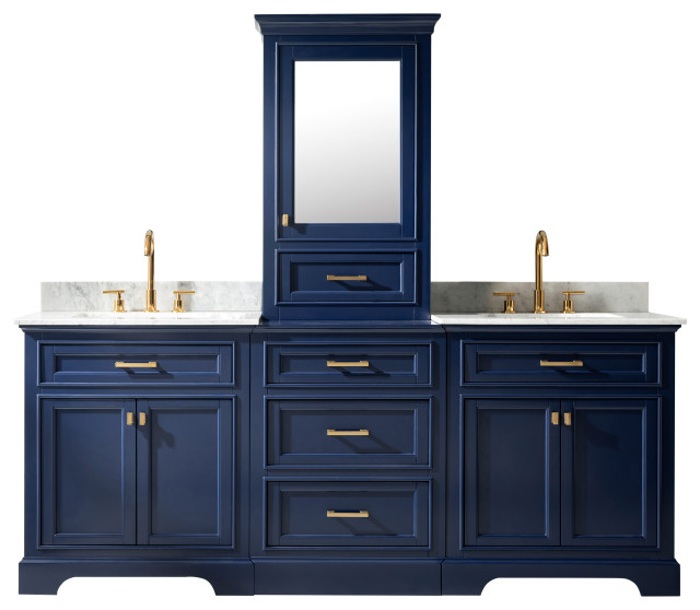 Milano 96 Double Sink Bathroom Vanity Modular Set Transitional Bathroom Vanities And Sink Consoles By Design Element Houzz