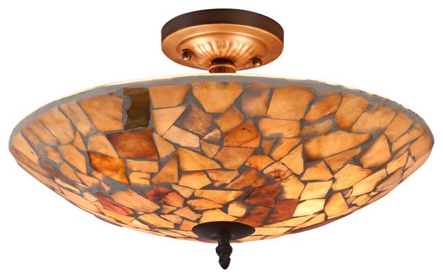Kai Mosaic 2-Light Semi-Flush Ceiling Fixture 16.