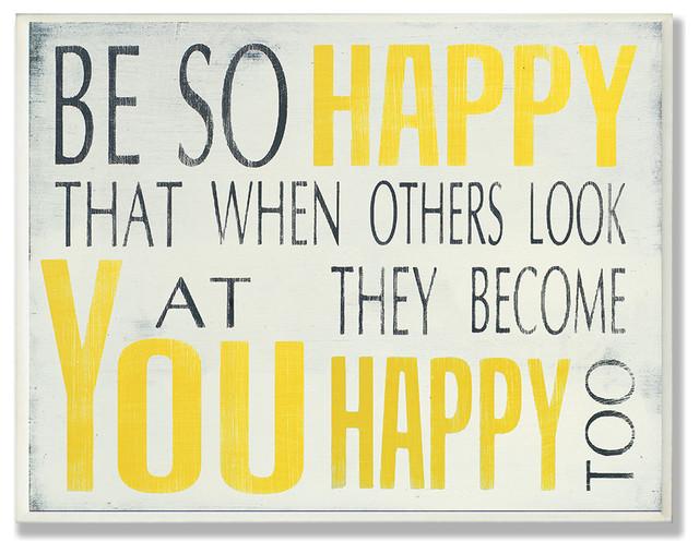 Be So Happy Typography.