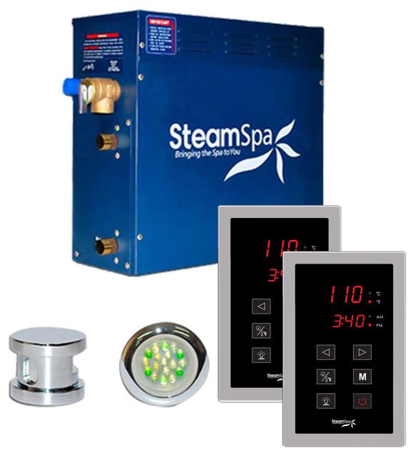 SteamSpa Saunas & Steam Units Royal 9kW Touch Pad Steam Bath Generator Package
