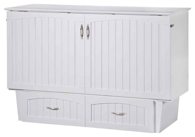 Atlantic Nantucket Queen Murphy Bed Chest White Murphy