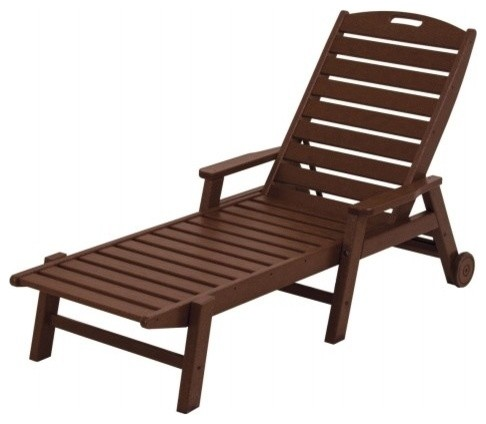 Polywood ncw2280ma nautical wheeled chaise with arms for Asian chaise lounge