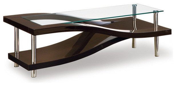 Charming Global Furniture Coffee Table, Wenge Contemporary Coffee Tables