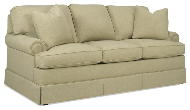 Monrovia Queen Pull Out Sleeper Sofa, Beige.
