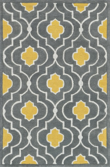 Loloi Brighton Gray And Gold Rug 3 6 X5 Mediterranean