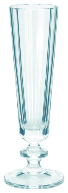 Theresienthal Roland Clear Icy Blue German Crystal Champagne Flute - christmastablescapedecor.com