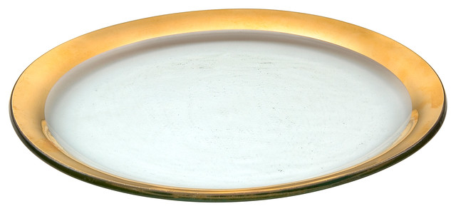 Annieglass Roman Antique-Style Dinner Plate Gold Rim  sc 1 st  Houzz & Annieglass Roman Antique-Style Dinner Plate - Contemporary - Dinner ...