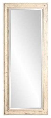 Lillian Pearl White Floor Mirror, 32 X 80.