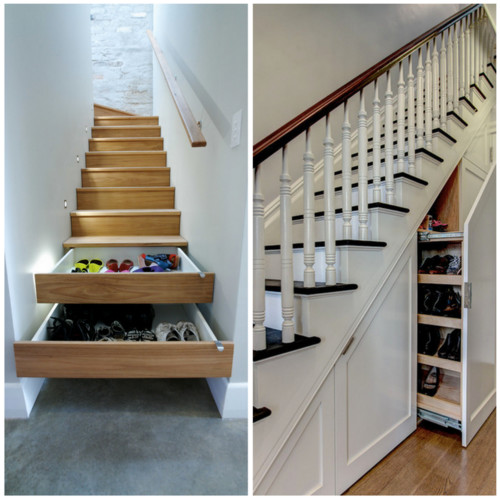 12 Storage Ideas For Under Stairs: This Or That? Under-stair Shoe Storage