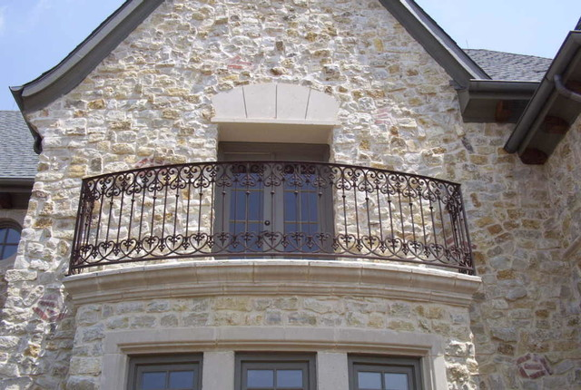 wrought iron balcony railing traditional dallas by