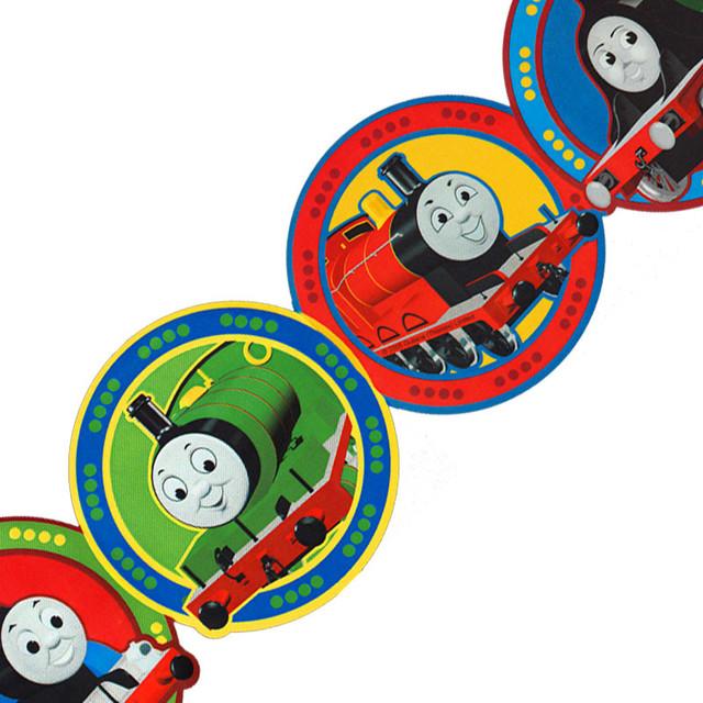 Thomas Train Circles Prepasted Wall Border Roll