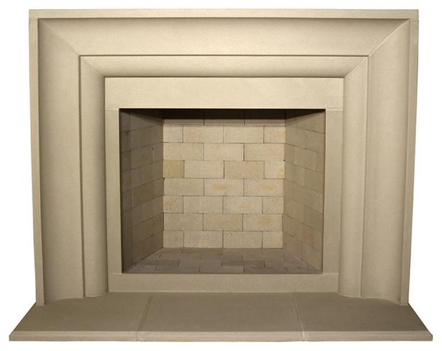 Avant Cast Stone Fireplace Mantel Buff