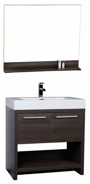 "Conceptbaths 32"" Modern Bathroom Vanity Gray Oak."