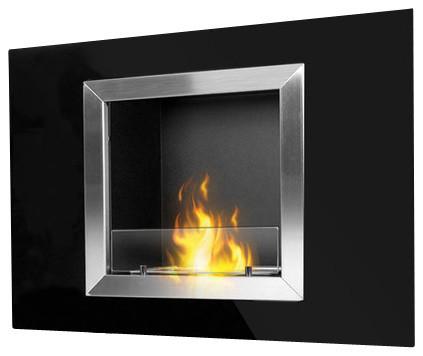 Calida ventless recessed ethanol fireplace modern for Ventless fireplace modern