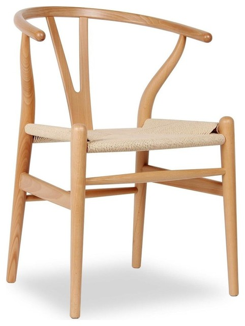Y wood dining chair midcentury dining chairs by - Natural wood dining chairs ...