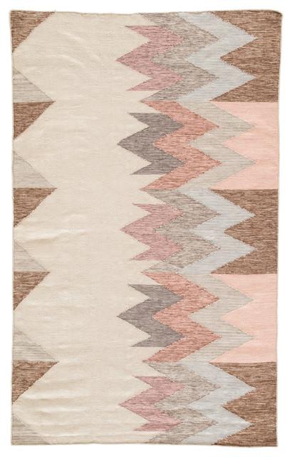 Jaipur Living Sahara Indooroutdoor Geometric Pinkgray Area Rug