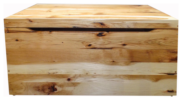 Pink Fairy Wishes Bench Seat With Storage Toy Box Seating: Amish Knots Hickory Rustic Natural Stain Toy Box Hardwood