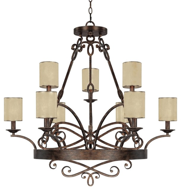 Reserved For Jacquidowd Rustic Lighting With Vintage Rustic: Capital Lighting Reserve 9-Light Chandelier, Rustic