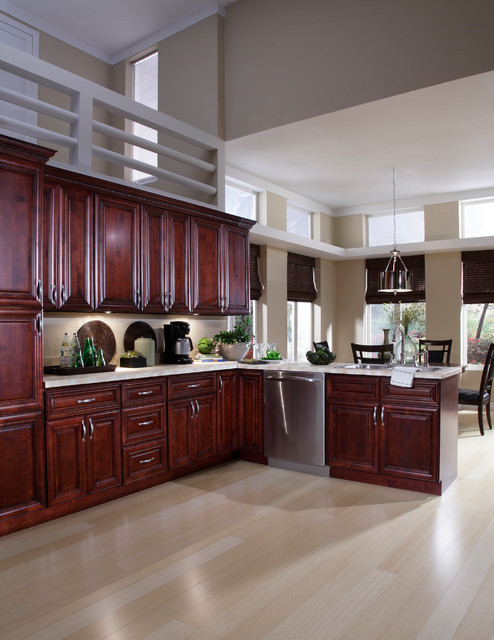 lovely Kitchen Paint Colors With Mahogany Cabinets #4: St. James Mahogany Kitchen Cabinets