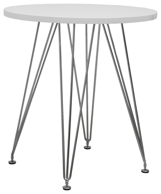 Mod Made Paris Tower Round Table With Chrome Base Dining  : contemporary dining tables from www.houzz.com size 532 x 640 jpeg 39kB
