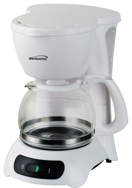 Brentwood Ts-212 4-Cup Coffeemaker - White.