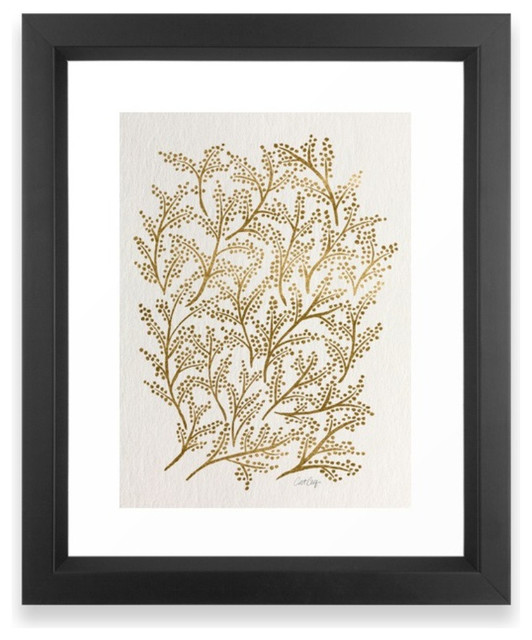 Gold Branches Framed Print