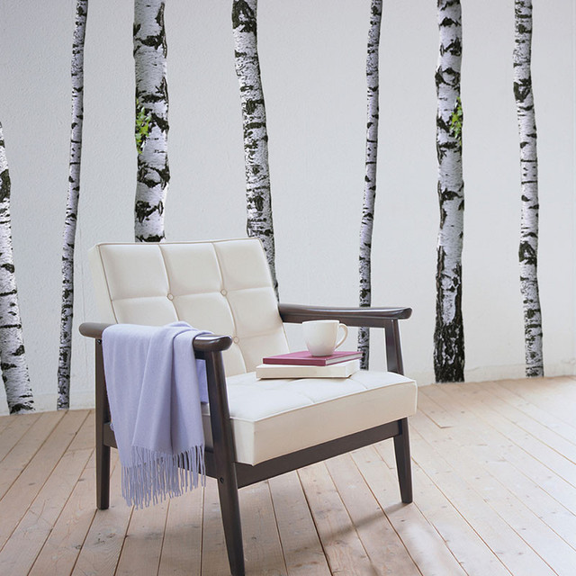 Wall Decal Super Real Birch Trees, 5-9&x27; Trees.