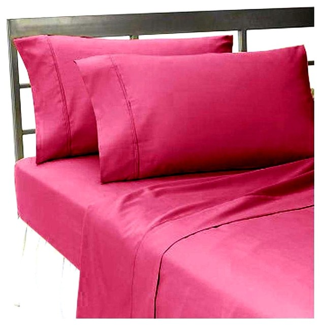 600tc 100 egyptian cotton solid full size fitted sheet contemporary fitted sheets by. Black Bedroom Furniture Sets. Home Design Ideas