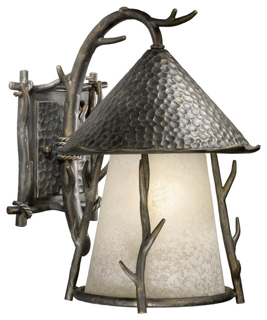 Vaxcel Lighting VX-WD-OWD110AA Berkeley Woodland Traditional Outdoor Wall Sconce rustic-outdoor  sc 1 st  Houzz & Vaxcel Lighting VX-WD-OWD110AA Berkeley Woodland Traditional ... azcodes.com