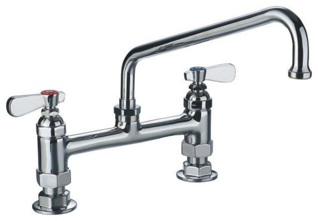 Whitehaus WHFS9813 12 C Heavy Duty Utility Bridge Faucet With Lever Handles  Contemporary