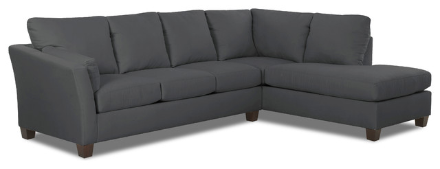 Sienna Chaise Sectional Sofa, Charcoal.