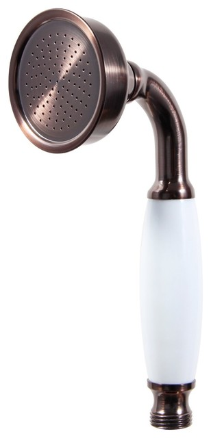Traditional Hand Shower With Ceramic Handle, Oil Rubbed Bronze