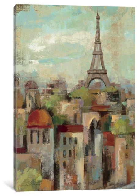 """Spring in Paris II Gallery"" by Silvia Vassileva, 60x40x1.5"""