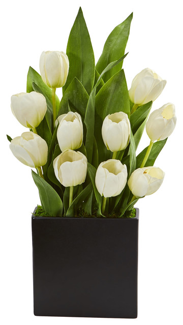 Artificial Arrangement In Black Vase