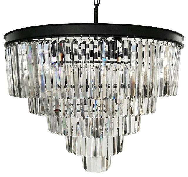 Lumos 12 Lights Luxury Modern Crystal Chandelier Pendant Ceiling Light