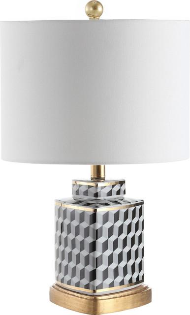 Alisha Table Lamp - Black, White