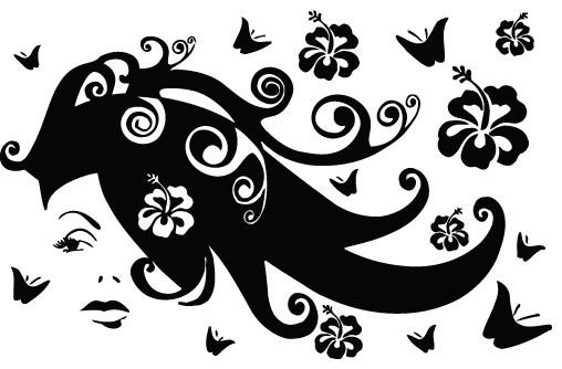 Wall Vinyl Art Decor Sticker Decal Girl Flower Butterfly Z - Butterfly vinyl decals