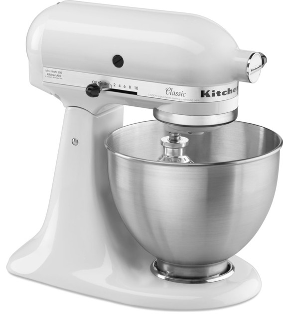 10-Speed Tilt-Head Stand Mixer, White.