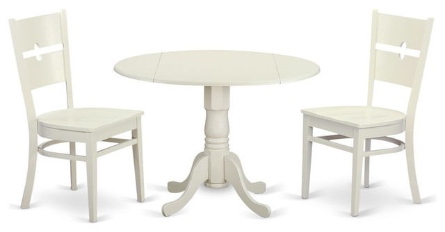 Hayley Dining Table Set White Traditional Sets
